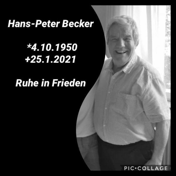 Nachruf Hans-Peter Becker 1